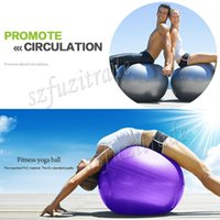 Wholesale Hot Colors cm Pilates Yoga Ball Health Balance Exercise Trainer Pilates Fitness Gym Home Exercise Sport Fitball AKA00014M
