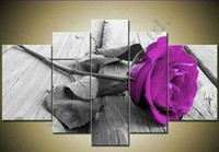 Wholesale Hand Painted piece Modern Decorative Rose Oil Painting On Canvas Wall Art Flower Picture For Living Room Sale