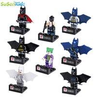 Wholesale 8pcs Batman Super Hero Avenger Kid Baby Toy Mini Figure Building Blocks Sets Model Toys Minifigures Brick