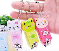 Wholesale hot sale children girls boys cartoon animal nail clippers with key chain baby girl many style mix nail clippers