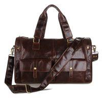 Wholesale J m d Cowhide leather men travel package vintage man bags genuine leather luggage travel bag shoulder tote man bag c