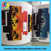 Wholesale Fashion make your own custom stickers custom sticker roll