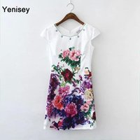 Wholesale LG47 and the wind summer retro printing diamond low split cheongsam FG1511
