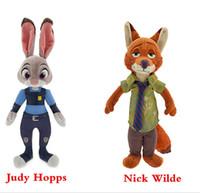 animal city - EMS Zootopia inch Crazy animal City Plush Toys NEW children cartoon cm Nick Wilde Judy Hopps Plush Toy Doll B001