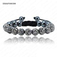 Wholesale Shamballa Bracelets Bangles Pave mm Crystal AB Clay Ball Shamballa Bracelet Mix Colours Options