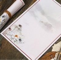 bargain ink - 250 mm Vintage White Ink lotus retro Kraft paper Art letter paper greeting letter paper bargains dandys