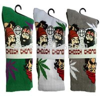 Cheap Wholesale-New Arrival CHEECH&CHONG & Weed Socks Style Sport Socks Men Brand Cotton Print Pirate Socks no retail carton
