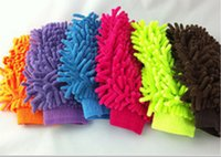 Wholesale Hot New Car Hand Soft Cleaning Towel Microfiber Chenille Was Car Washer Ultrafine Fiber Chenille Anthozoan Car Wash Gloves Cleaning Supplies