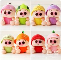 animal farm pigs - Hot Selling Plush Toys Noctilucence Fruits McDull Pig For Stuffed Toys High Quality Stuffed Animals Height CM K277