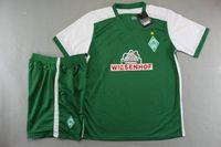 athletic suits - 2015 Werder Bremen home green jersey men s brand new short sleeve soccer kits athletic outdoor designer training sport uniform suit top