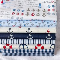 anchor textiles - New cm Navy Wind Anchor Cotton Fabric Quarter Bundle Telas DIY Patchwork Quilt Doll Sewing Baby Textile Bedding Tecido