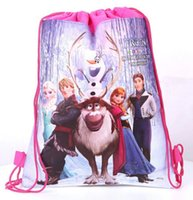 Wholesale Details about New Disney Frozen Elsa Anna Olaf Princess Drawstring Girl Boy Toy Bag Backpack