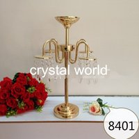 balls crystal candle holders - Wedding decoration mental flower bolw Centerpieces For Wedding Table