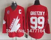 Cheap Factory Outlet, 1991 Olympic Team Canada #99 Wayne Gretzky Jersey Captain Red White Premier Stitched Mens Vintage Throwback Jerseys
