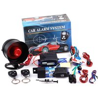 Wholesale New Universal Way Car Alarm Vehicle System Protec tion Security System Keyless Entry Siren Remote Control Burglar hot sale