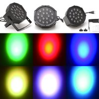 Wholesale US Stock AC220V V W Channel RGB Led Flat Par Light Stage Lighting for Club DJ Stage Partyw DMX Control