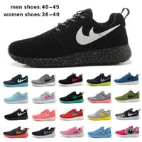 Wholesale 2015 New Roshe run Men running shoes fashion sports athletic walking shoes EUR size Women EUR size