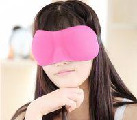 Wholesale Travel Sleep Rest D Sponge EyeShade Sleeping Eye Mask Cover Patch Blinder for health care DHL