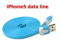 Wholesale 1M Colorful USB Data Cable Power Charging Line For iPhone5