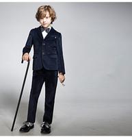 Wholesale 2015 Custom Boys piece suit male flower children s clothes get married the groomsman dress Jacket Pants Bowtie Boy s Formal Wear p44