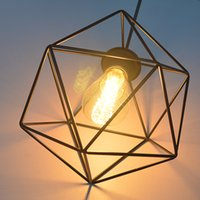 Wholesale Vintage Iron lampshade hexagonal section LED decorative lights create a romantic atmosphere suitable for restaurants and bars cafes tea