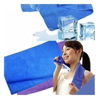 Wholesale Newest Creative Cold Towel Exercise Sweat Summer Ice Towel cm cm cm Sports Ice Cool Towel PVA Hypothermia Cooling Towel