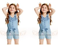 Cheap baby boys girls clothing set kids clotes summer Summer cool and refreshing stripe dress of the girls Free postage