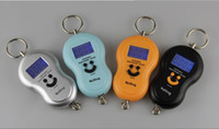 Wholesale 40kg g Kg lb oz Portable Pretty Smile electronic Digital Lage Fishing Hook Hanging Scale