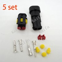 amp connector kit - sets Kit Pin Way AMP Super seal Waterproof Electrical Wire Connector Plug for car with registered