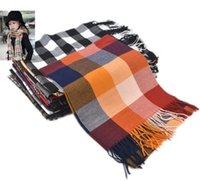 Wholesale Retail Unisex Children Plaid Scarf Baby Kids Boy Girls Autumn Winter Warm Imitation cashmere Tassel Scarves WJ8345