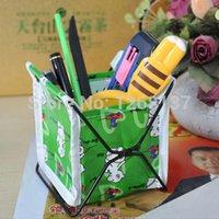Wholesale Pen Makeup Cosmetic Storage Stand Holder Organizer Bag Box Case Fabric Foldable FZ1172 uHhUeg