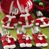 western clothing - New Christmas Decoration Cutlery Covers Festival Atmosphere Ornament Clothes Shape