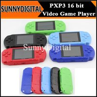 Wholesale 16 Bit PXP3 Game Player bit inch LCD Pocket Handheld Video Game Player Console System Games Colorful B