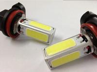 Wholesale 2X H11 LED W High Power COB Auto LED Car V Daytime Running Lights Car Styling Exterior Light Xenon H11 Parking