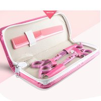 Wholesale SMITH CHU Pink Lady Hair Scissors Set household level bangs cut teeth thinning scissors tool