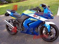 plastic injection molding - Painted blue and white custom plastic injection molding fairing Kawasaki Kawasaki Ninja R EX250