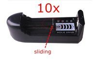Wholesale 10X High Quality Rechargeable Li ion Battery Charger US EU Plug for Ultrafire Battery