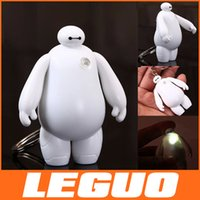 light ornaments - 2015 Newest Big Hero Baymax Sound key chain cartoon doll ornaments LED lights hand to do rotation robot MOQ C