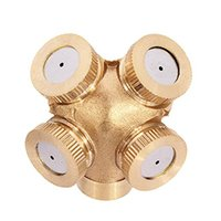 Wholesale 4 Hole Brass Spray Nozzle Garden Sprinklers Irrigation Fitting Garden Supplies