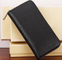 Wholesale Designer Newest style hot sell color wallet women zipper purse long plaid money wallets lys512