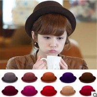 Wholesale AAA Quality Female Autumn and Winter Elegant Women Fashion Cap Ladies Bucket Hat Girl Small Fedoras Hat
