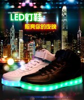 Wholesale 7colors shoe simulation led shoes for adults medium USB charing led luminous shoes solid men women glowing light up sneakers