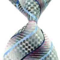 bulk yarn - Men s Business Formal Tie Silk Classic Woven Man Necktie Striped Trendy High Quality Bulk Necktie for Work