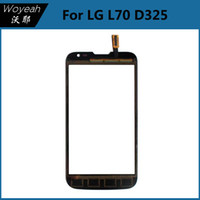 touchscreen - Touch Screen For LG Series L70 D325 Digitizer Glass Touch Panel White And Black Touchscreen Accessories