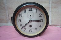 bakelite clocks - Rare functional good old ship bell bakelite shell old wall clock old watches have Detailing