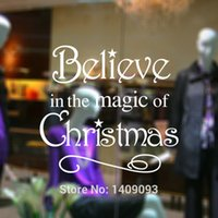art color quotes - Wall Sticker Quotes Believe in the Magic of Christmas New Decoration Shop Window Decals Three Color Vinyl Decor