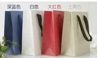 Cheap free shipping recyclable paper gift bags with handle gift paper bag packaging bags christmas gift bag 18x21x8cm
