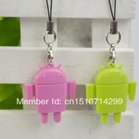 Wholesale 2 X Cute ANDROID Robot Mini USB Micro SD TF Memory Card Reader Keychain B037 eubg