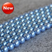 Wholesale New beautiful mm Light Blue Shell DIY Glass gift for women girl loose beads Jewelry making design inch