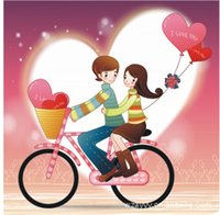 Wholesale DIY cute romantic couple color switch stickers socket paste creative wall stickers